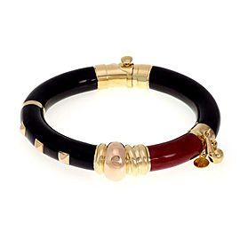 La Nouvelle Bague Enamel 18k Yellow Rose Gold 925 Silver Bangle Bracelet