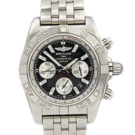 Breitling Chronomat 44 Steel Black Dial Automatic Mens Watch AB011011/B967-375A