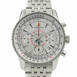Breitling Montbrillant Steel Silver Dial Automatic Mens Watch AB013012/G709-448A