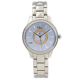 Dior VIII Montaigne Diamond Blue Sunray Dial Automatic Ladies Watch CD152510M001