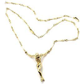 Salvador Dali 18k Gold Large Christ Saint John Cross Bracelet Necklace Cert