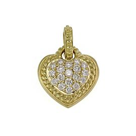 Judith Ripka Diamond 18k Yellow Gold Heart Pendant Enhancer