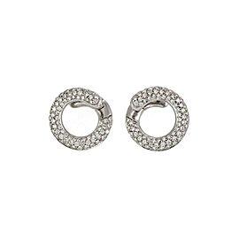 65974 H.Stern 1.50ct Diamond 18k White Gold Circle Stud Earrings