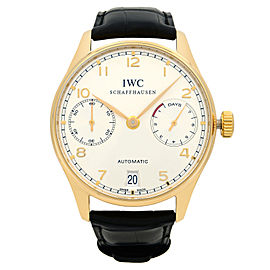 IWC Portugieser 18k Rose Gold Power Reserve Automatic Mens Watch IW500101