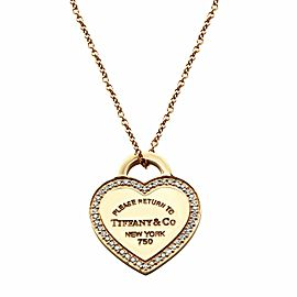 Tiffany & Co. 18K Rose Gold Return to Tiffany Diamond Necklace 0.13cttw