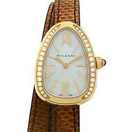 Bvlgari Serpenti 18K Rose Gold MOP Dial Diamond Quartz Ladies Watch 102727