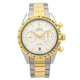Omega Speedmaster 57 18K Yellow Gold Steel White Dial Watch 331.20.42.51.02.001