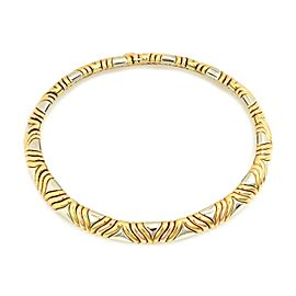 Bvlgari Bulgari 18k Tri-Color Gold 11mm Wide Fancy Design Collar Necklace