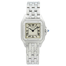 Cartier Panthere 22mm Steel Silver Roman Dial Quartz Ladies Watch W25033P5