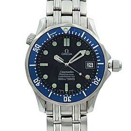 Omega Seamaster 36mm Steel Blue Wave Dial Automatic Midsize Watch 2551.80.00