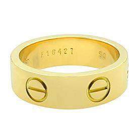 Cartier 18K Yellow Gold Love Ring Size 50