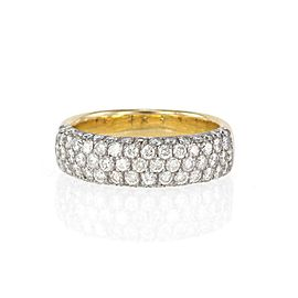 65972 H.Stern 1.43ct Diamond 18k Two Tone Gold Band Ring w/Paper
