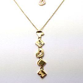 Pasquale Bruni 18k Yellow Gold Diamond Enamel AMORE Pendant Necklace