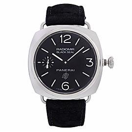 Panerai Radiomir Black Seal Steel Black Dial Hand Wind Mens Watch PAM00380