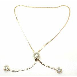 Vintage! Authentic Van Cleef & Arpels 18k Yellow Gold Diamond Lariat Necklace