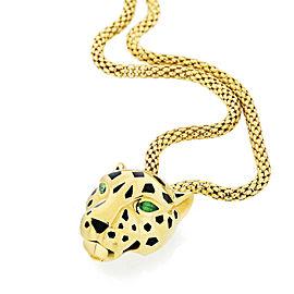 Cartier 18K Yellow Gold Panthere De Cartier Bracelet 8 inches 0.16cttw
