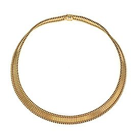 Cartier France Vintage 18k Yellow Gold 10mm Wide Fancy Collar Necklace