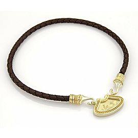Vintage 14k Yellow Gold Cherubs & Nymphs Pendant & Woven Cord Necklace