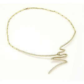 Jose Hess 3.5ct Diamonds 14k Yellow Gold Fancy Design Necklace