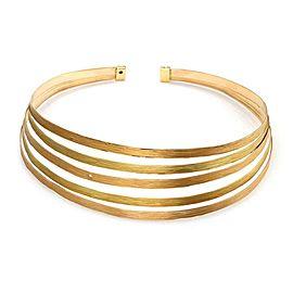 Roberto Coin Diamond 18k Pink & Yellow 5 Band Flex Choker Necklace