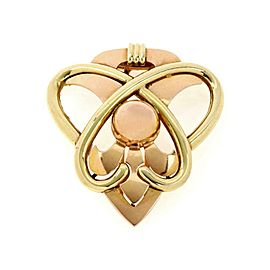 Tiffany & Co. Vintage 14k Rose & Yellow Gold Fancy Love Knot Brooch
