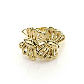 Tiffany & Co.Vintage 18k Yellow Gold 2 Butterfly Ring Size 4.25 Circa 1989