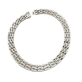Chimento 5 Carats Diamond 18k White Gold 14mm Wide Collar Necklace