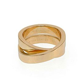 Cartier Nouvelle Vague 18k YGold Crossover Band Ring Size EU 51-US 5.5