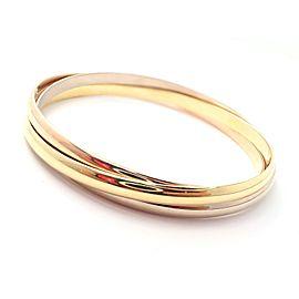 Cartier 18k Tri-color Gold Trinity Bangle Bracelet 1997