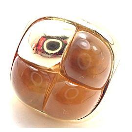 Rare! Authentic Pomellato 18k Yellow Gold Large Citrine Ring