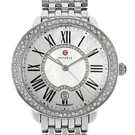 Michele Serein Steel Diamonds MOP Roman Dial Quartz Ladies Watch MWW21B000030