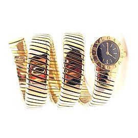 Bulgari 18k Tri-Color Gold Tubogas Serpent Snake Bracelet Watch