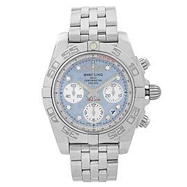 Breitling Chronomat 41mm Steel Diamond MOP Dial Mens Watch AB014012-G712-378A