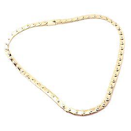 Gucci 18k Yellow Gold Diamond Tennis Necklace