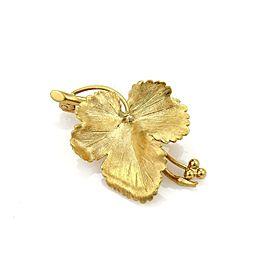 Tiffany & Co. Vintage Maple Leaf Brooch in 18k Yellow Gold