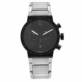Movado Synergy Museum Chronograph Black Dial Quartz Mens Watch 0606800