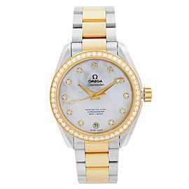 Omega Seamaster Aqua Terra Diamond White MOP Dial Mens Watch 231.25.39.21.55.002