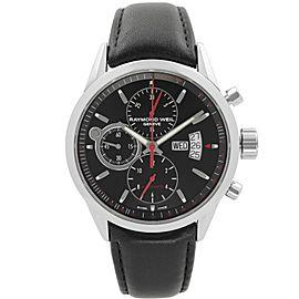 Raymond Weil Freelancer 42mm Day-Date Steel Black Automatic Watch 7730-STC-20041