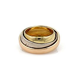 Cartier 18k Tri-Color Gold Triple Graduated Band Ring Size 48-US 4.75