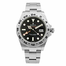Rolex Explorer II Steel Orange Hand Black Dial Automatic Mens Watch 216570