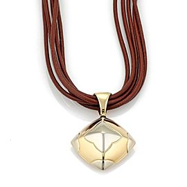 Bvlgari Bulgari Pyramide 18k Gold Floral Pendant Multi-Cord Necklace