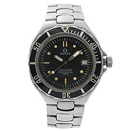 Omega Seamaster Professional Steel Black Dial Quartz Mens Watch 396.1052