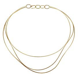 Tiffany & Co. Peretti Wave 18k Yellow Gold 3 Wire Collar Necklace