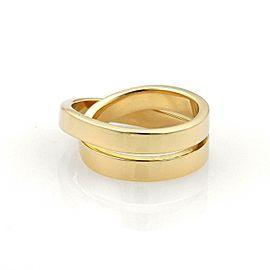 Cartier Nouvelle Vague 18k YGold Crossover Band Ring Size EU 47-US 4 Cert