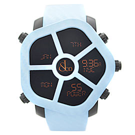 Jacob & Co. Ghost 5 Time Zone Carbon Bezel Blue Mens Watch GH100.11.NS.MC.ANM4D
