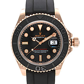 Rolex Yacht-Master 40MM 18k Rose Gold Black Dial Automatic Mens Watch 126655