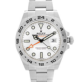 Rolex Explorer II GMT 42MM Stainless Steel White Dial Automatic Men Watch 216570
