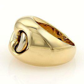 Bulgari Bvlgari 18k Yellow & White Gold Dual Open Heart Dome Shape Ring