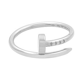 Cartier 18K White Gold Juste un Clou Small Ring Size 52 US 6