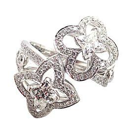 Louis Vuitton LV 18k White Gold Fusion Diamond Ring 4.25